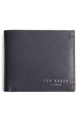 Ted Baker Men's London 'Frankey' Leather Wallet Blue Navy