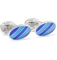 Deakin And Francis Enamelled Sterling Silver Cufflinks Silver