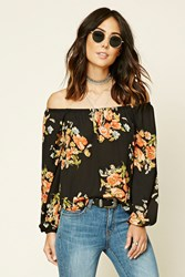 Forever 21 Contemporary Floral Top