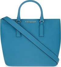 Kurt Geiger Chelsea Saffiano Leather Tote Blue