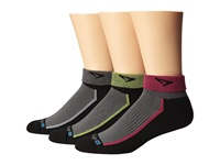Drymax Sport Trail Running 1 4 Crew Turn Down 3 Pair Pack Gray Oct Pink Lime Green Crew Cut Socks Shoes
