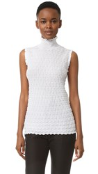 Carven Sleeveless Turtleneck White