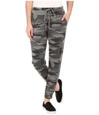 Splendid Woodbury Camo Active Pants Vintage Olive Branch Women's Casual Pants Gray