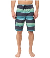 O'neill Santa Cruz Stripe Boardshorts Aqua Men's Swimwear Blue