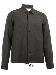 Ganryu Comme Des Garcons Boxy Buttoned Jacket Grey