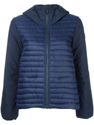 Save The Duck Hooded Puffer Jacket Blue