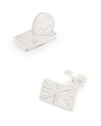 Thomas Pink Union Jack Cufflinks Silver