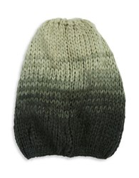 Wooden Ships Ombre Wool Blend Knit Hat Green