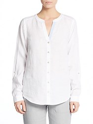 Saks Fifth Avenue Collarles Linen Blouse