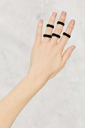 Nasty Gal Stay In Touch 5 Pc Velvet Ring Set