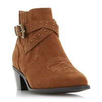 Head Over Heels Paxx Western Buckle Boots Tan