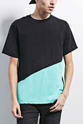Forever 21 Human Condition Colorblock Tee