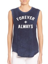Feel The Piece Cut Off Forever Always Tank Vintage Navy