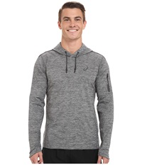 Asics Over Head Hoodie Dark Heather Grey Men's Long Sleeve Pullover Gray