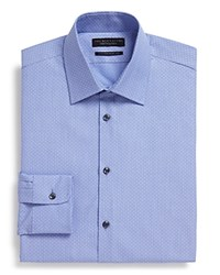 The Men's Store At Bloomingdale's Dobby Regular Fit Dress Shirt Blue
