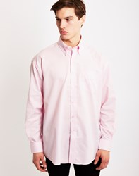 The Idle Man Long Sleeve Oxford Shirt Pink