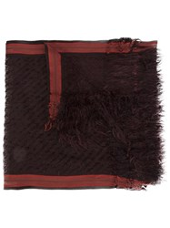 Faliero Sarti Frayed Scarf Red