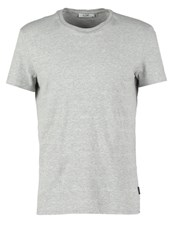 Kiomi Basic Tshirt Grey Melange Mottled Grey