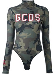 Gcds Camouflage Blouse Green