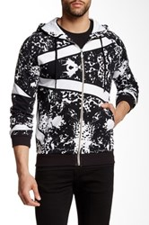 Versace Printed Hooded Zip Sweater White