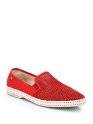 Rivieras Woven Slip On Sneakers Rouge
