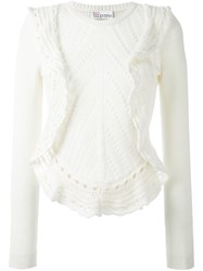 Red Valentino Ruffled Sweater Nude And Neutrals