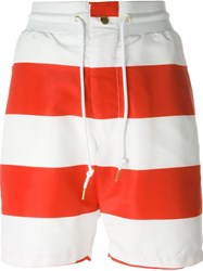 Joyrich 'Usa Playboy' Striped Shorts Red