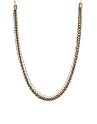 Asos Chain In Mesh Necklace Black