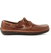 Quoddy Moc Ii Leather Boat Shoes Brown