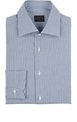 Eidos Men's Striped Cotton Dress Shirt Navy Light Blue Navy Light Blue