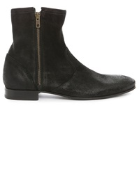 Pete Sorensen Hurricane Black High Top Zip Up Boots
