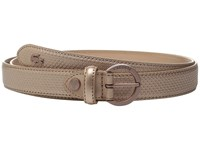 Lacoste Premium Chantaco Coated Leather Belt Elderberry Women's Belts Red