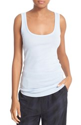 Vince Women's Scoop Neck Pima Cotton Layering Tank Chambray