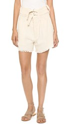 Shakuhachi Safari Raw Edge Shorts Natural