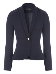 Jane Norman Blazer Style Button Detail Jacket Navy