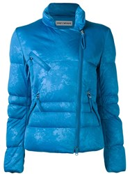 Issey Miyake Vintage Feather Padded Jacket Blue