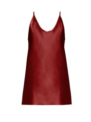 Raey Deep Scoop Neck Satin Cami Top Red