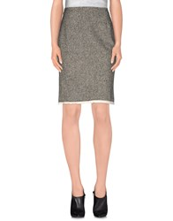 Rose Skirts Knee Length Skirts Women Grey