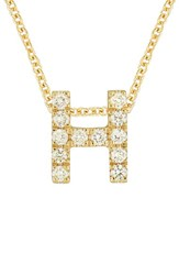 Bony Levy Women's Pave Diamond Initial Pendant Necklace Nordstrom Exclusive Yellow Gold H