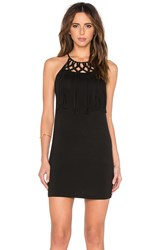 Oh Boy Vestido Macrame Mini Dress Black
