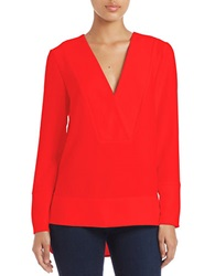 French Connection Oversized Crepe Tunic Riot Red