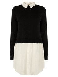 Oasis Shirt Tails Tunic Top Black White
