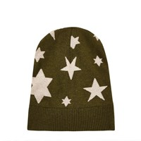 River Island Mens Dark Green Ymc Knitted Star Beanie