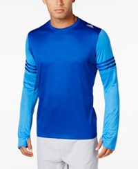 Adidas Men's Response Climalite Long Sleeve Running Shirt Royal