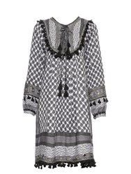 Dodo Bar Or Nadin Cotton Eyelet Detail Dress Grey Multi