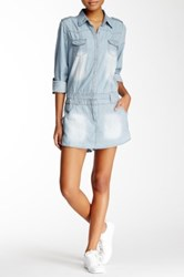 Blvd Chambray Romper Blue