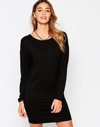 Pieces Long Sleeve Dress Black