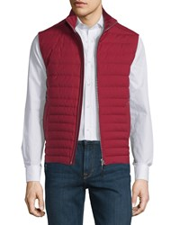 Ermenegildo Zegna Trofeo Wool Elements Quilted Vest Size 54 Red