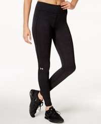Under Armour Coldgear Leggings Black Metallic Silver