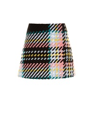 Marni Bonded Cotton And Wool Blend Mini Skirt